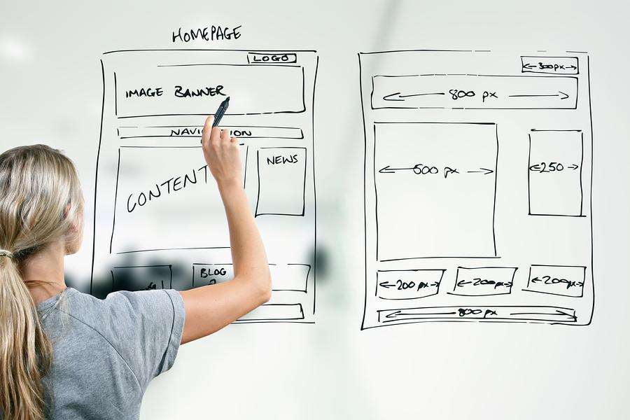 créer une page d'accueil attractive et efficace